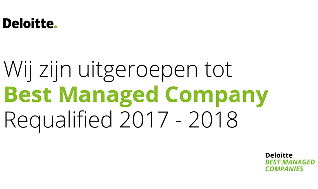 KMM Groep benoemd tot Best Managed Company 2017-2018
